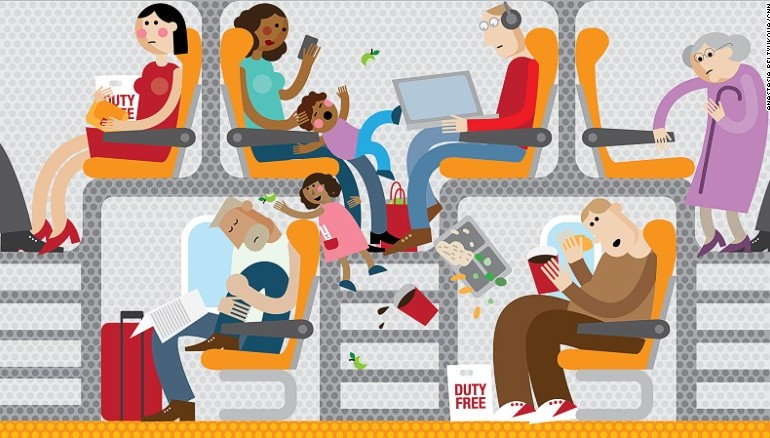 7 اختراعات مريعة لمقاعد الطائرات