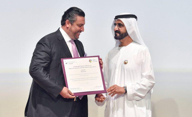 محمد بن راشد يكرم الرئيس التنفيذي لشركة Hills Advertising المهندس سامي المفلح