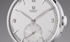 """ساعة أوميغا 1947 """"توربيلون 30 """" التاريخية تباع في المزاد بمبلغ 1,428,500 فرنك سويسري"""