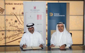 دبي للإستثمار توقع عقد شراكة مع مجموعة ميلينيوم لتطوير فندق جديد
