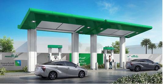 """أرامكو السعودية وإير برودكتس"""" تنشئان أول محطة لمركبات خلايا الوقود الهيدروجيني"""