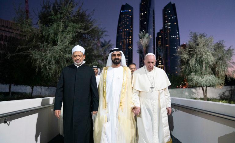 """الإمارات تطلق """"جائزة الأخوة الإنسانية – من دار زايد"""" والبابا والإمام أول الفائزين"""