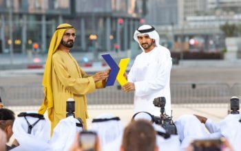 محمد بن راشد يشهد إطلاق العلامة التجارية الجديدة لمطار دبي الدولي