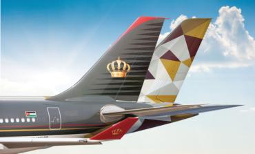 الاتحاد للطيران والملكية الأردنية تعلنان عن شراكة جديدة بالرمز