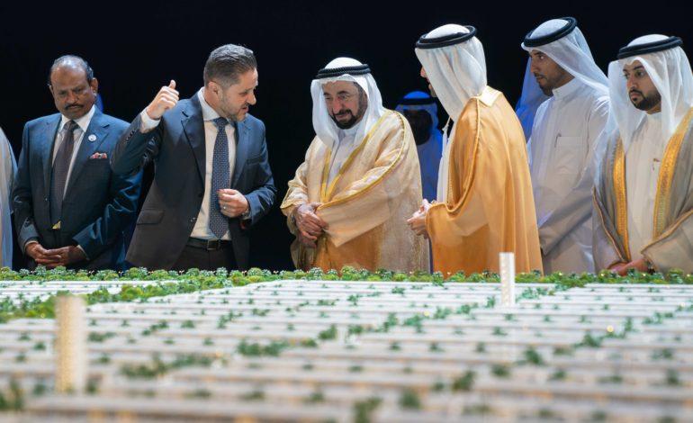 سلطان القاسمي يطلق مشروع مدينة الشارقة المستدامة