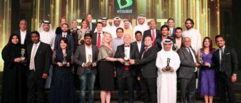 """تكريم الفائزين بجائزة """"اتصالات"""" للشركات الصغيرة والمتوسطة"""