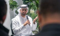 سلطان بن أحمد القاسمي التقى صناع المحتوى الإعلامي الذين غطو  منتدى الاتصال الحكومي