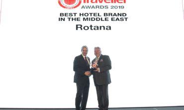 """روتانا تحصد جائزة """"أفضل علامة فندقية في الشرق الأوسط 2019"""" للعام الثالث"""