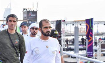 محمد بن راشد يشهد جانبا من منافسات الألعاب الحكومية