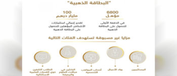 """إطلاق نظام الإقامة الدائمة """"البطاقة الذهبية"""" في الإمارات"""