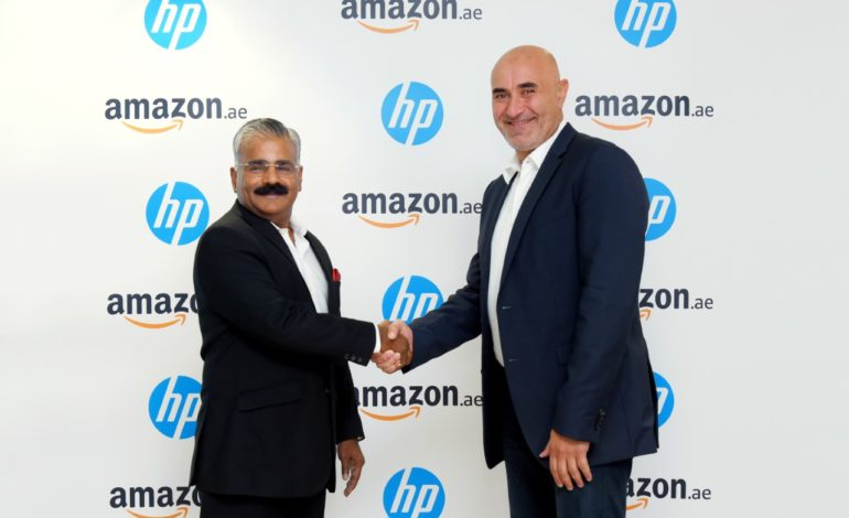 """HP تواصل شراكتها مع """"أمازون"""" بعد الإعلان عن إطلاق """"أمازون الإمارات"""""""