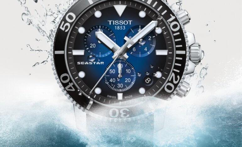 ساعة Tissot Seastar 1000 Quartz Chrono  أناقة مائية