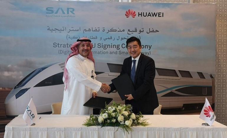 السعودية توقع مذكرة تفاهم مع هواوي لتطوير نظام ذكي للسكك الحديدية