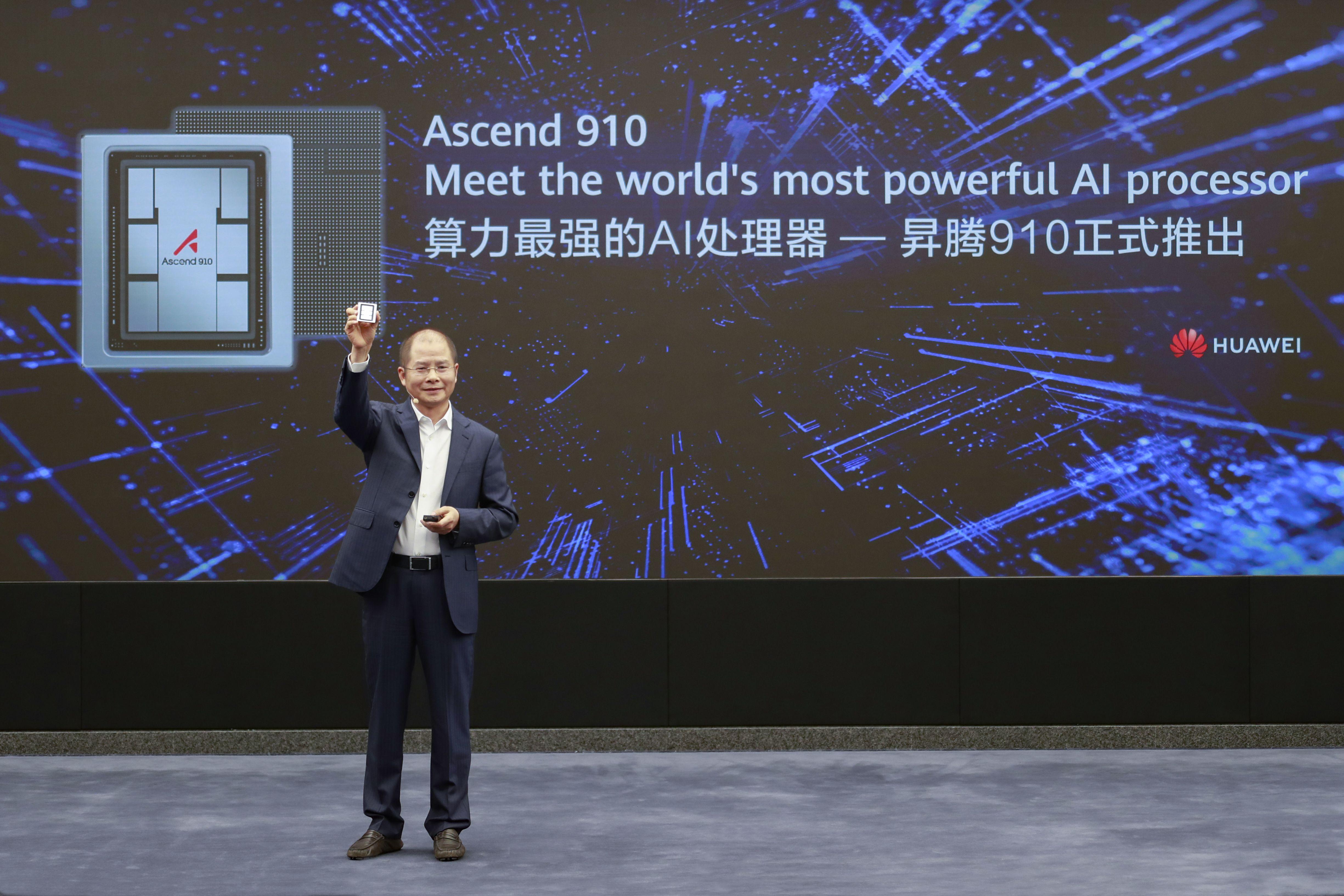 """هواوي تطلق أسيند 910 """"Ascend 910"""" أقوى معالج للذكاء الاصطناعي في العالم"""
