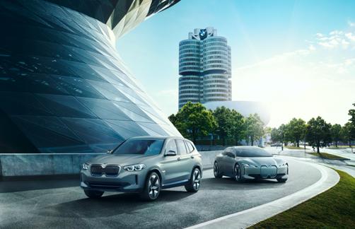 وحدة الطاقة الفعالة في سيارة BMW iX3 الكهربائية بالكامل