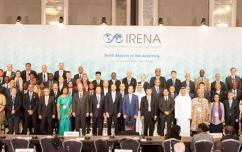 """عمومية """"آيرينا"""" تناقش تحوّل نظام الطاقة العالمي بمشاركة 150 دولة"""