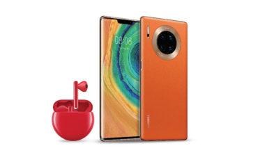 هاتف HUAWEI Mate 30 Pro 5G وسماعة HUAWEI FreeBuds 3 الجديدة باللون الأحمر كهدية مثلى ليوم الحب