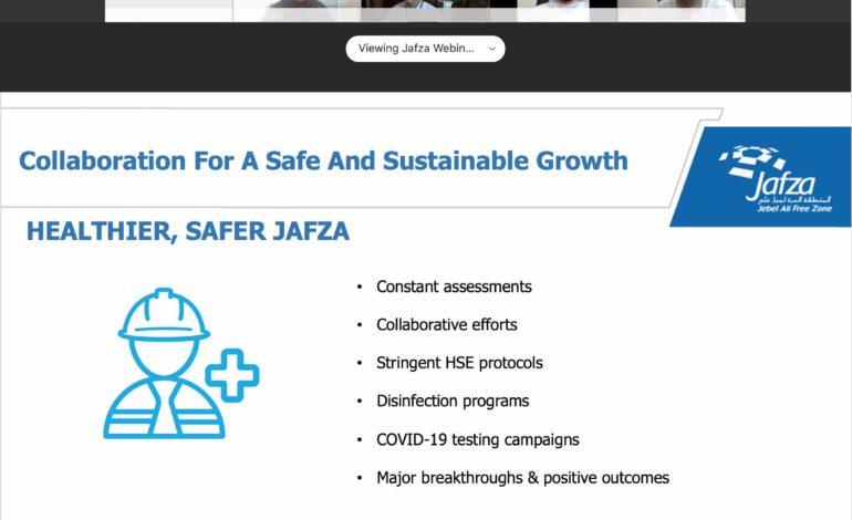 """جافزا ترفع معايير التوعية بتنظيم ندوة افتراضية حول """"التعاون والتكامل من أجل نمو آمن ومستدام"""""""
