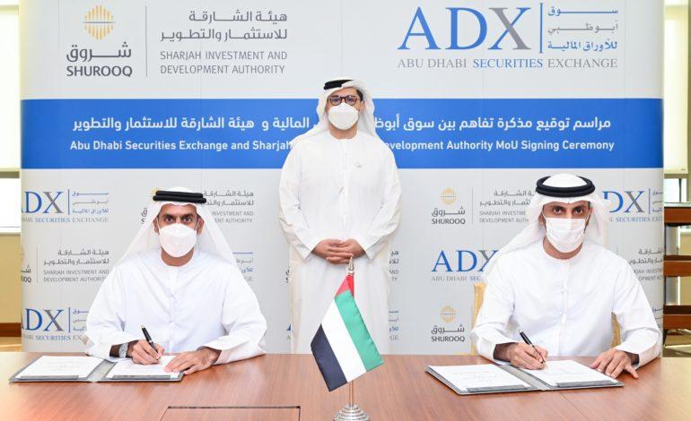 سوق أبوظبي للأوراق المالية يوقع مذكرة تفاهم مع هيئة الشارقة للاستثمار والتطوير (شروق)
