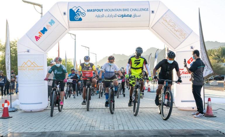 دائرة سياحة عجمان تختتمسباق مصفوت للدراجات الجبلية بمشاركة مئات المتسابقين