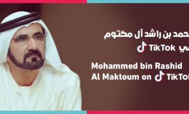 """محمد بن راشد يطلق حسابه الرسمي على """"تيك توك"""""""