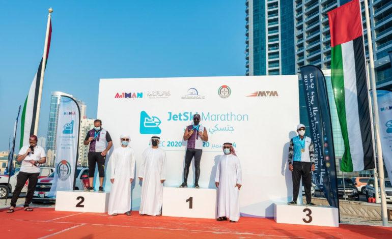 الشيخ عبدالعزيز بن حميد النعيمي يفوز بلقب بطولةالامارات لمارثون جيت سكي