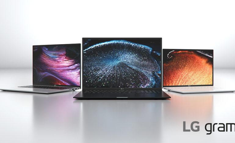 مجموعة حواسيب LG GRAM 2021 تتميز بنسبة العرض والطول الكبيرة 16:10 والتصميم الأنيق
