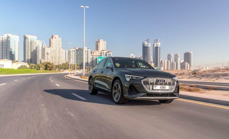 سيارة Audi e-tron Sportback الكهربائية بالكامل متوفرة الآن في الشرق الأوسط