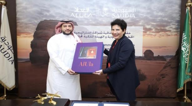 الخطوط السعودية توقع إتفاقية شراكة استراتيجية مع الهيئة الملكية لمحافظة العلا لإطلاق حملة محلية