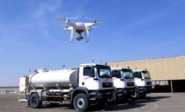 (طرق دبي) تُؤتمت عمليات التفتيش الميداني للشاحنات بطائرات (الدرون)