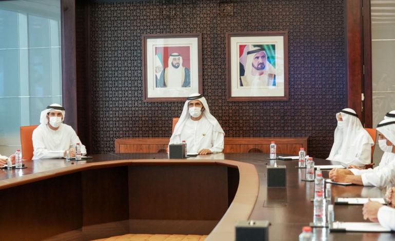 محمد بن راشد يجتمع مع أعضاء مجلس إدارة غرف دبي