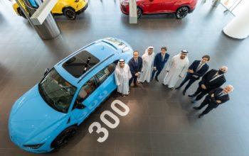 'لامبورغيني' تحتفل ببيع مركبتها 'أوروس' الرقم 300 في الإمارات