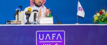 الجمعية العمومية للاتحاد العربي لكرة القدم تنصّب سمو الأمير عبدالعزيز بن تركي رئيساً لمجلس الاتحاد