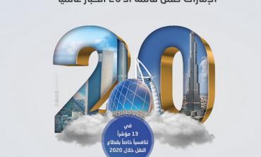 الإمارات ضمن قائمة الـ 20 الكبار عالميا في 13 مؤشرا تنافسيا خاصا بقطاع النقل خلال 2020