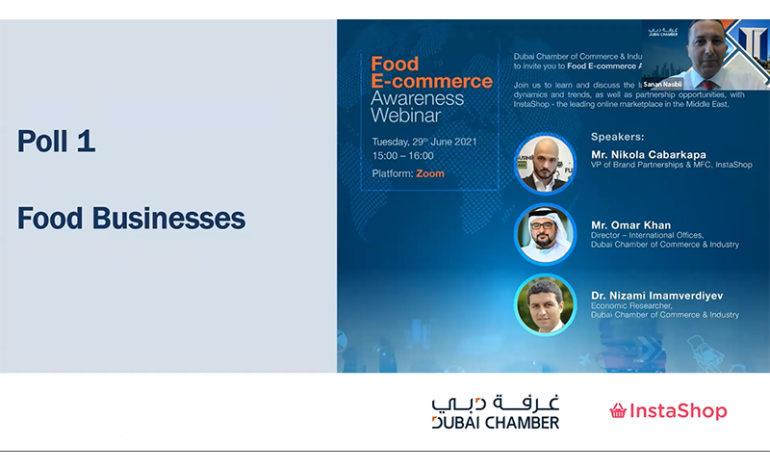 غرفة دبي تناقش أحدث الاتجاهات وفرص الشراكة في مجال التجارة الإلكترونية للأغذية