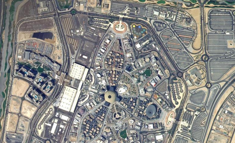 صورة التقطها القمر الاصطناعي خليفة سات من الفضاء لموقع إكسبو 2020