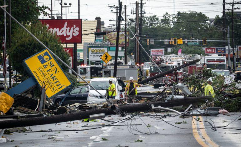 """سلطات مدينة نيويورك تعلن حالة طوارئ تاريخية بسبب فيضانات سببها إعصار """"إيدا"""""""