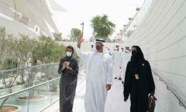 """محمد بن زايد يزور جناح الإمارات في """" إكسبو 2020 دبي """""""