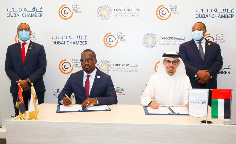 غرفة دبي توقع مذكرة تفاهم مع غرفة التجارة الأنغولية- الإماراتية لتعزيز التعاون الثنائي